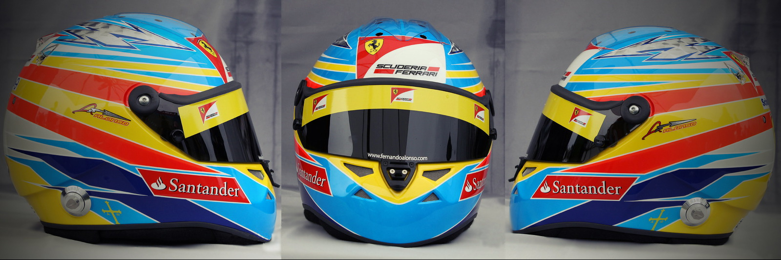 Шлем Фернандо Алонсо на сезон 2011 года | 2011 helmet of Fernando Alonso