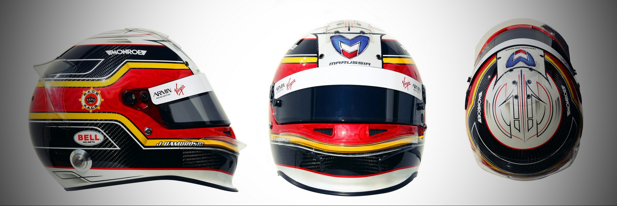 Шлем Жерома д'Амброзио на сезон 2011 года | 2011 helmet of Jerome d'Ambrosio