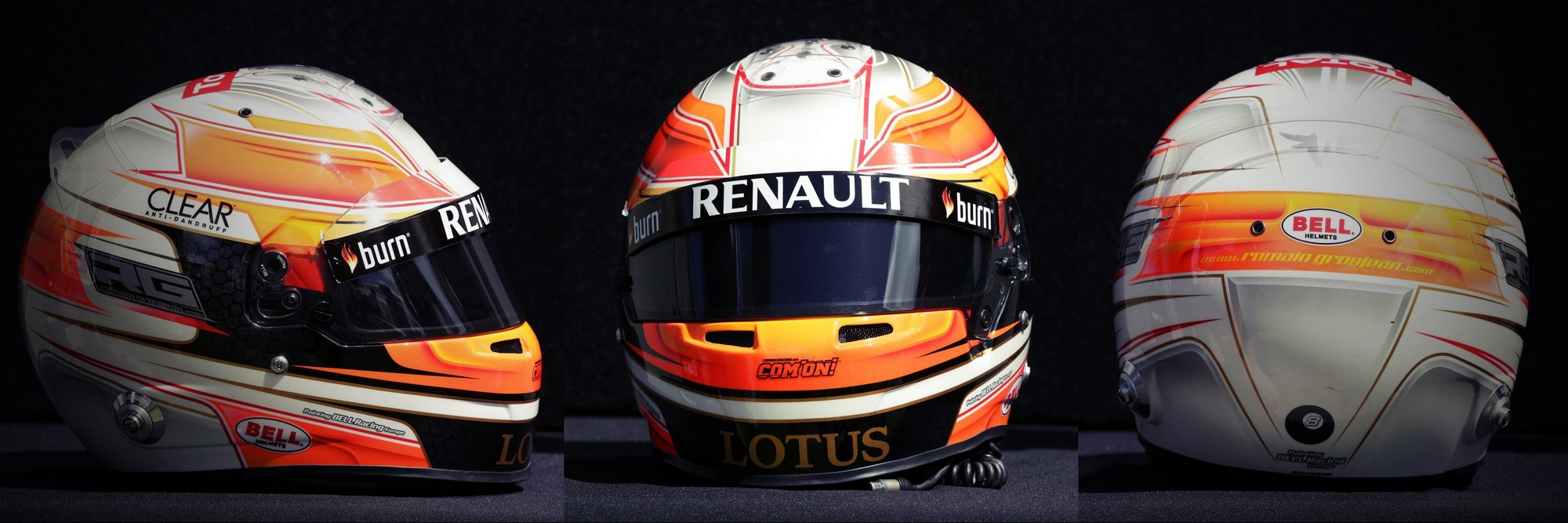 Шлем Романа Грожана на сезон 2011 года | 2011 helmet of Romain Grosjean