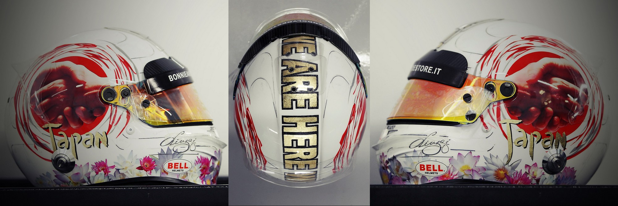 Шлем Витантонио Лиуцци на Гран-При Японии 2011 года | 2011 Japanese Grand Prix helmet of Vitantonio Liuzzi