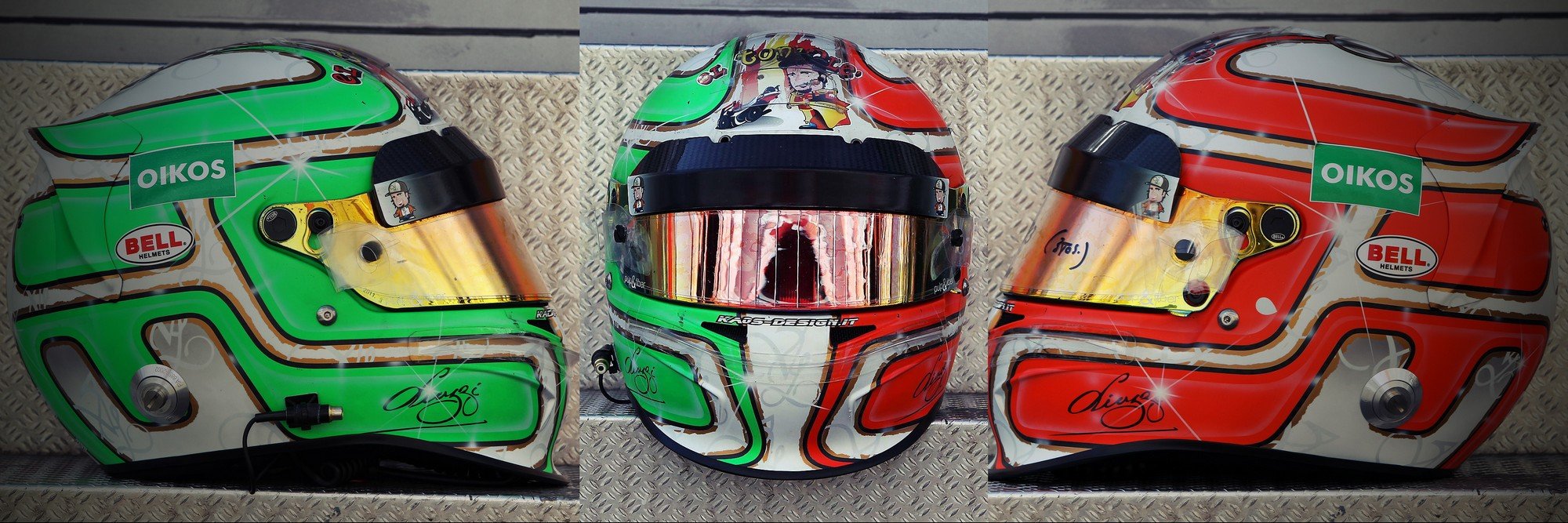 Шлем Витантонио Лиуцци на Гран-При Испании 2011 года | 2011 Spanish Grand Prix helmet of Vitantonio Liuzzi