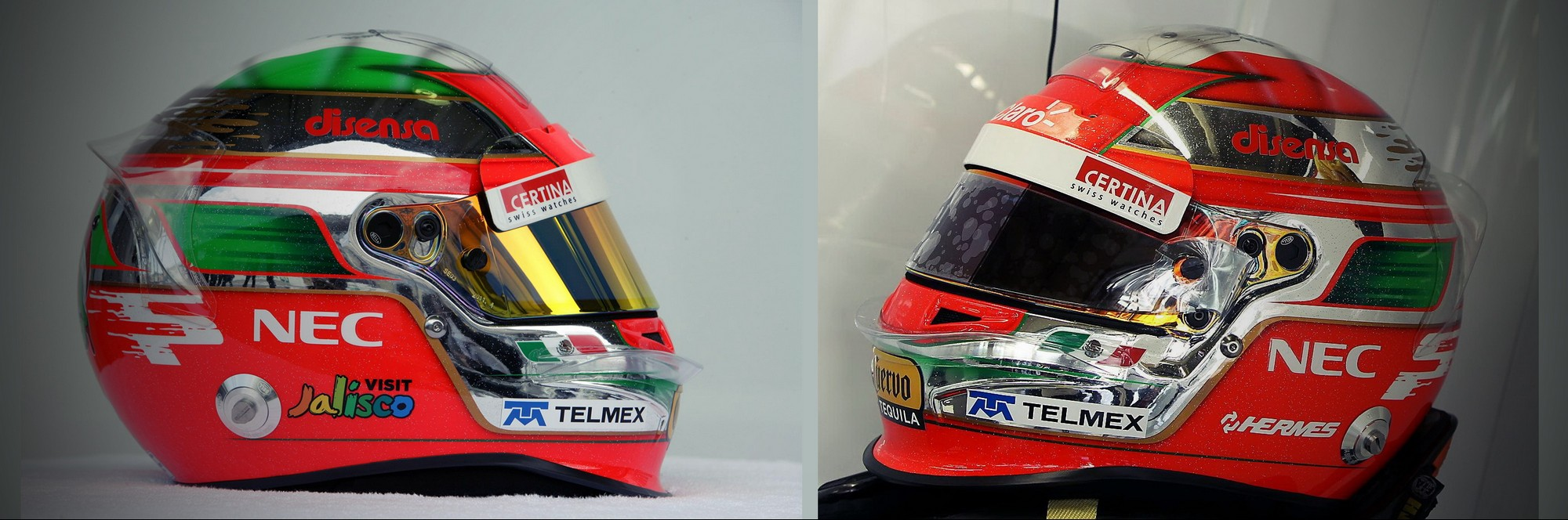 Шлем Серхио Переса на Гран-При Бразилии 2011 | 2011 Brazilian Grand Prix helmet of Sergio Perez