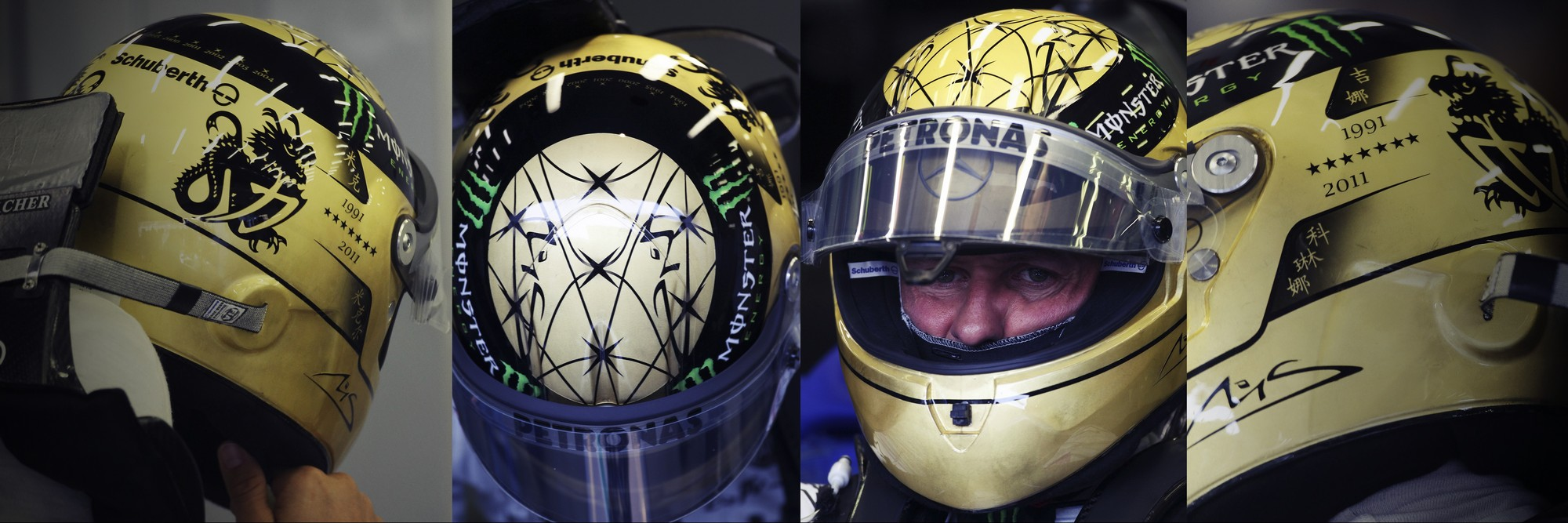 Шлем Михаэля Шумахера на Гран-При Бельгии 2011 года | 2011 Belgian Grand Prix helmet of Michael Schumacher