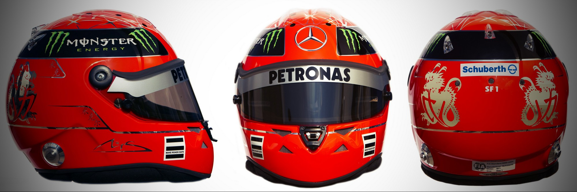 Шлем Михаэля Шумахера на сезон 2011 года | 2011 helmet of Michael Schumacher