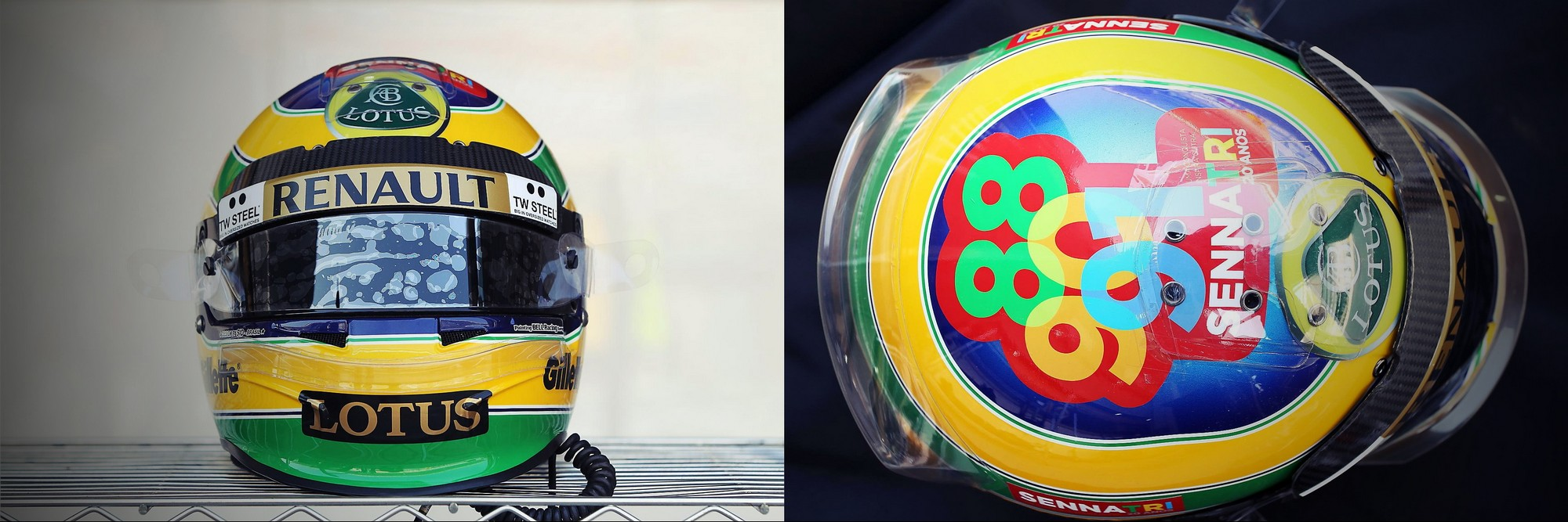 Шлем Бруно Сенны на Гран-При Кореи 2011 года | 2011 Korean Grand Prix helmet of Bruno Senna