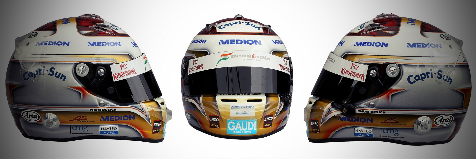Шлем Адриана Сутиля на сезон 2011 года | 2011 helmet of Adrian Sutil