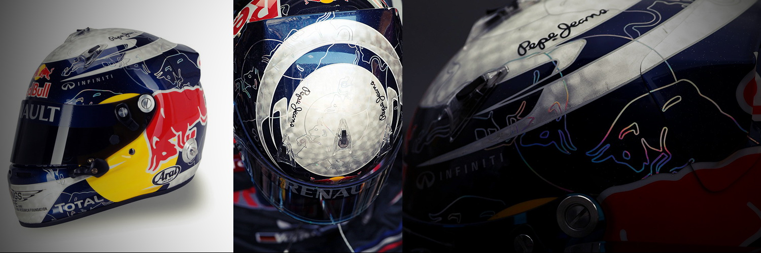 Шлем Себастьяна Феттеля на Гран-При Канады 2011 | 2011 Canadian Grand Prix helmet of Sebastian Vettel