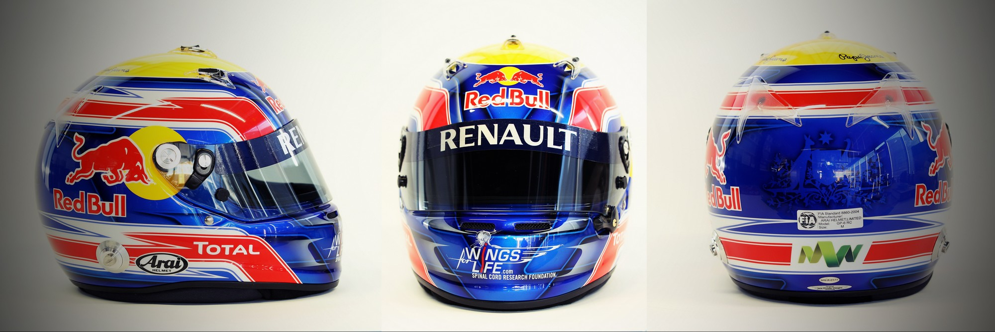 Шлем Марка Уэббера на сезон 2011 года | 2011 helmet of Mark Webber