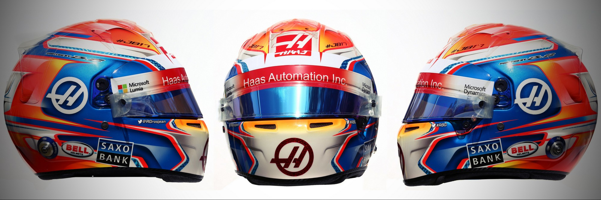 Шлем Романа Грожана на сезон 2016 года | 2016 helmet of Romain Grosjean