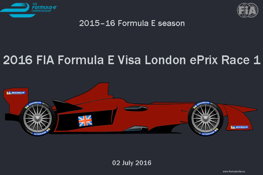ePrix Лондона 2016 (Гонка 1) | 2016 FIA Formula E Visa London ePrix Race 1