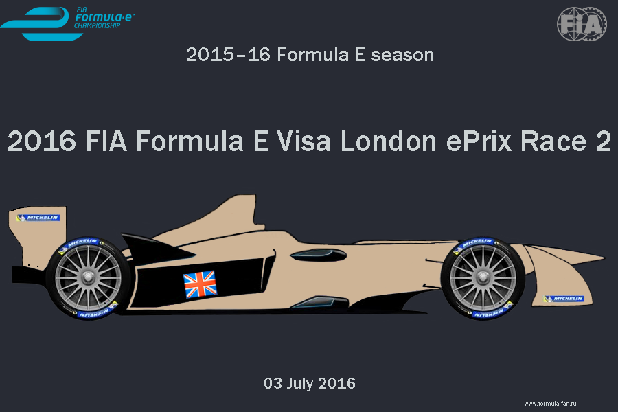 ePrix Лондона 2016 (Гонка 2) | 2016 FIA Formula E Visa London ePrix Race 2