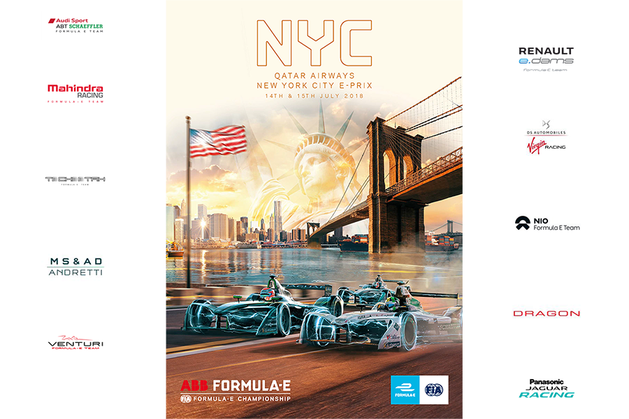 ePrix Нью-Йорка 2018 (гонка 2) | 2018 AAB Formula E Qatar Airways New York ePrix Race 2