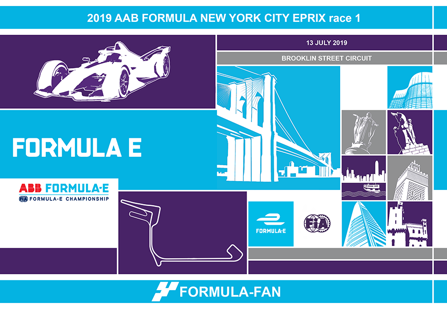 ePrix Нью-Йорка 2019 (гонка 1) | 2019 AAB Formula E New York City ePrix Race 1
